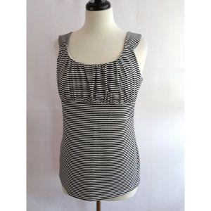 Ann Taylor Size L Sleeveless Top Shirt Striped